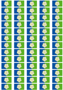 Yorkshire East Riding Flag Stickers - 65 per sheet